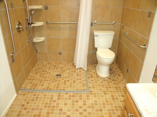 Wheelchair Accessible Shower, Aging-In-Place Remodeling
