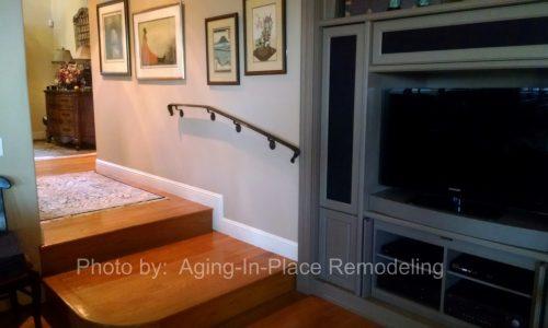 Custom fabricated interior handrails for a safer home