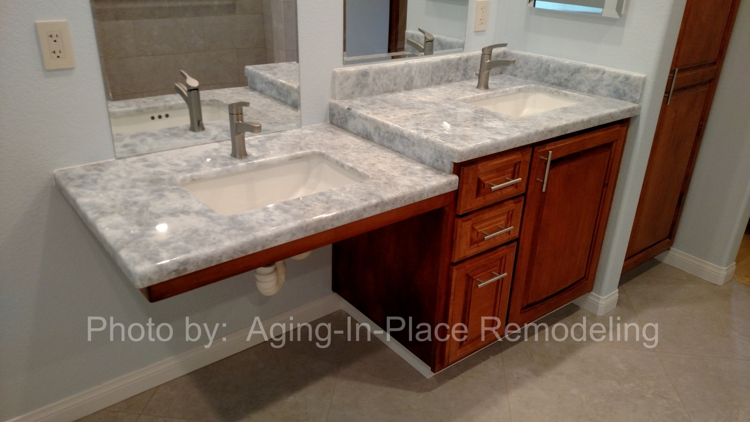 Accessible sinks aging in place remodeling Wheelchair accessible bathroom sinks