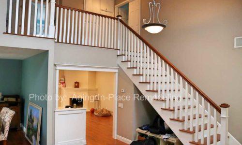 Rebuilt staircase