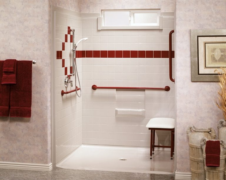 Fiberglass Roll-In Showers
