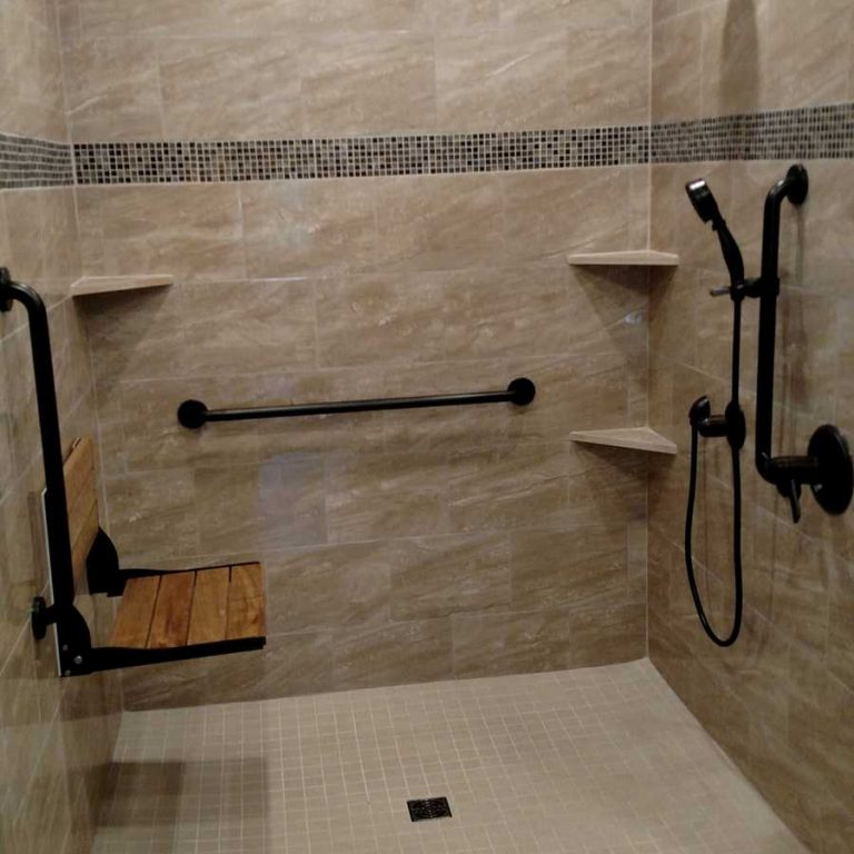 Tile Roll-In Showers - Aging in Place Remodeling